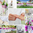 Wedding collage - Foto Stock