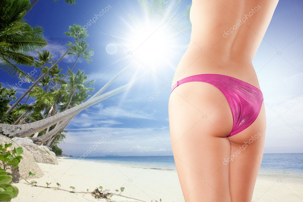 Close up view of nice smooth womans legs on color back  Stock Photo #8844103