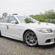 Stock Photo: Wedding car - bmw