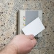 Hand with the card access — Stock Photo