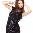 Fashion model in sequin dress — Stock Photo #8554259