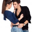Sensual young couple — Stock Photo #9077415