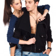 Stock Photo: Sensual young couple