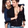 Young lovers in foreplay - Stock Photo