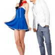 Sexy cute sailor woman and elegant man — Stock Photo