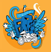 Graffiti vector abstract illustration — Vector de stock