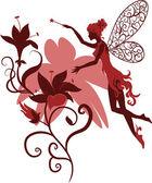 Fairy Silhouette — Stock Vector