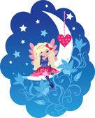 Cute Love angel cartoon vector — Stock Vector