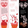 Valentine banner set — Stock Vector