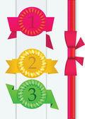 Abstrakt origami award vektor bakgrund — Stockvektor