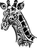 Decorative giraffe — Stock Vector