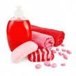 Soap different with towel — Stock Photo