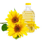 Vegetable oil from sunflower — Stock Photo