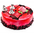 Stock Photo: Cake with red jelly