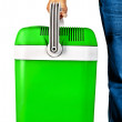 Green portable cooler for travel — Stockfoto