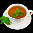 Herbal tea with mint sprigs of two — Stock Photo #9121372