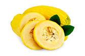 Zucchini yellow cut — Stock Photo