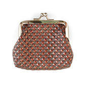 Purse brown with a pattern — Stok fotoğraf