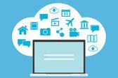 Cloud computing concept — Vecteur