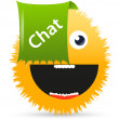 Chat smiley — Stock Vector