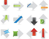 A set of arrows with labels — Stock Vector