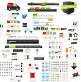 Colección gráfica web — Vector de stock