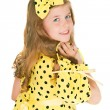 The girl in a yellow dress — Stock Photo