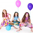 Stock Photo: Girls with balloons