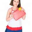 The girl with a gift — Stock Photo #8202465