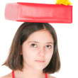The girl with a gift — Stock Photo #8202469
