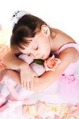 De moe kleine ballerina — Stockfoto