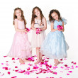 Three elegant girls — Stock Photo