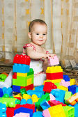 Playing with blocks — Stockfoto