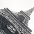 Black and white photo of Eiffel Tower - Stock Photo