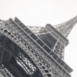 Black and white photo of Eiffel Tower — Stock Photo
