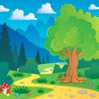 Cartoon forest landscape 8 — Stock Vector