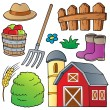 Stock Vector: Farm theme collection 1