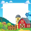 Stock Vector: Farm theme frame 1