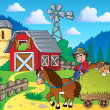 Stock vektor: Farm theme image 6