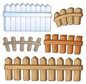 Cartoon fences collection — Stock Vector