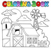 Coloring book farm theme 1 — Stock Vector