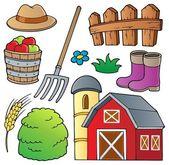 Collezione a tema fattoria 1 — Vettoriale Stock
