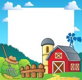Farm theme frame 1 — Stock Vector