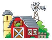 çiftlik tema resim 1 — Stok Vektör