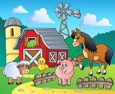 çiftlik tema görüntü 4 — Stok Vektör