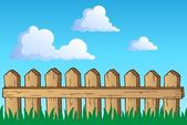 フェンスのテーマの画像 1 — ストックベクタ
