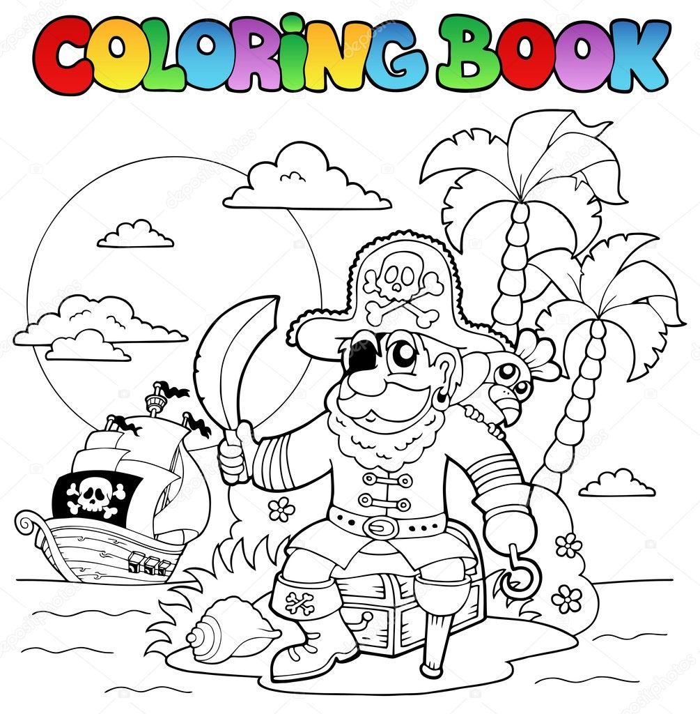 Раскраска остров пиратов