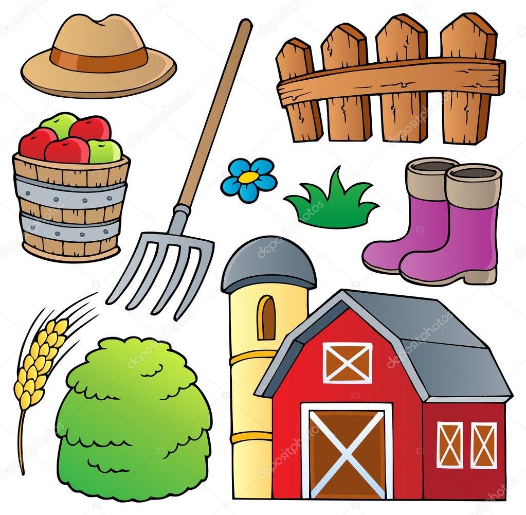 农场主题集合 1-矢量图– 图库插图