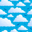 Seamless background with clouds 7 — Stock Vector