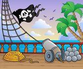 Pirate ship deck theme 1 — Stock Vector